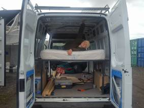 Testing the frame and mattress