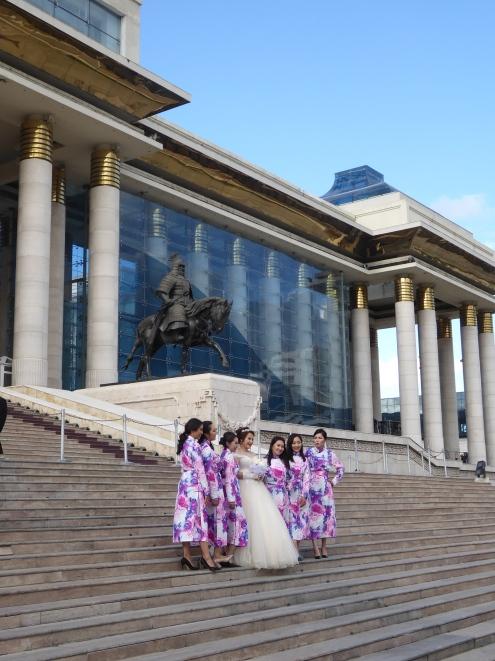 everyone having a photo with Chinggis Khan