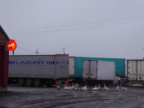 A typical lorry motel