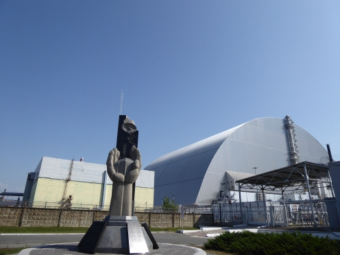 The new sarcophagus over Reactor 4 in the CHNPP